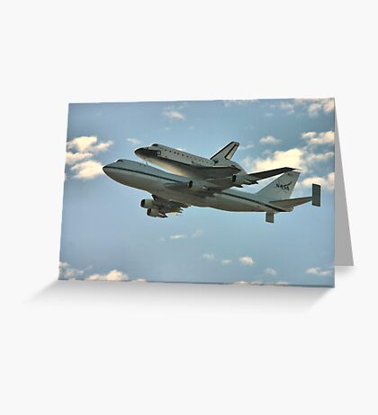 Space Shuttle Flyover Greeting Card