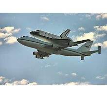 Space Shuttle Flyover Photographic Print