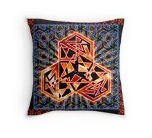 Hallucine Aten Throw Pillow