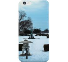 Belle Isle Garden During The Winter In Detroit iPhone Case/Skin