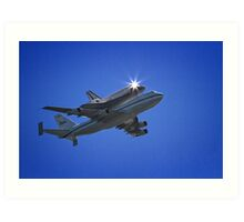Endeavor Fly Over - Long Beach, California Art Print