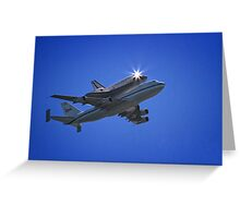 Endeavor Fly Over - Long Beach, California Greeting Card