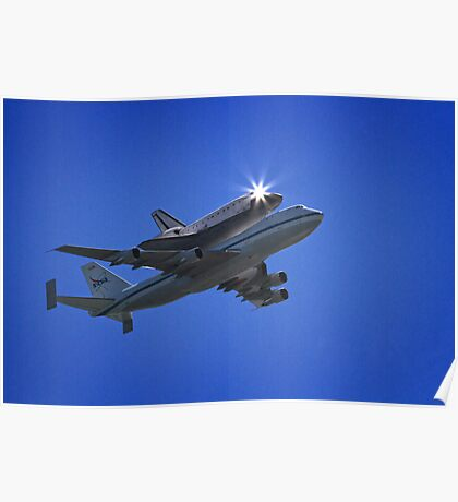 Endeavor Fly Over - Long Beach, California Poster