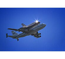 Endeavor Fly Over - Long Beach, California Photographic Print