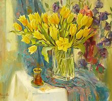 yellow tulips by Ekaterina Menkova