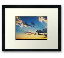 Radiant Beams Framed Print