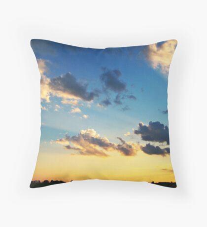 Radiant Beams Throw Pillow