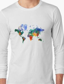 Oh!  What A Watercolor World Long Sleeve T-Shirt