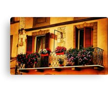 A Balcony In Pisa Canvas Print
