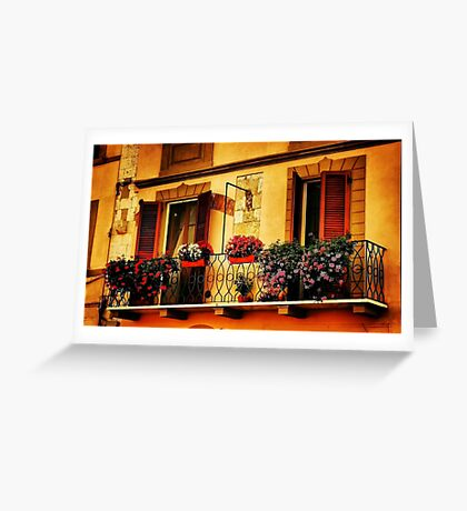 A Balcony In Pisa Greeting Card