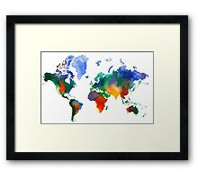 Oh!  What A Watercolor World Framed Print