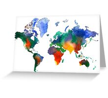 Oh!  What A Watercolor World Greeting Card