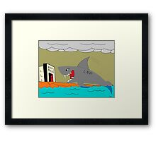 Shark Attack On The Queensland Public Service Framed Print