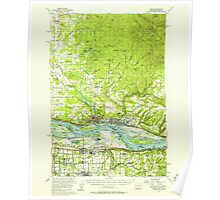 USGS Topo Map Washington State WA Camas 240318 1954 62500 Poster