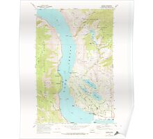USGS Topo Map Washington State WA Manson 242170 1968 24000 Poster