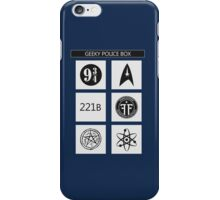 GEEKY POLICE BOX iPhone Case/Skin