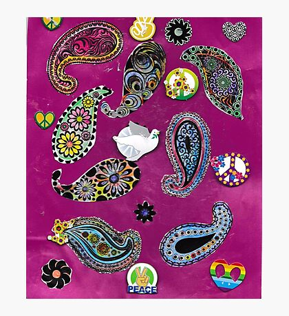Paisleys For Peace  Photographic Print