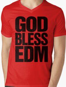 God Bless EDM (Electronic Dance Music) [black] Mens V-Neck T-Shirt