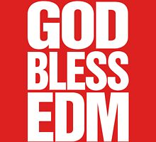 God Bless EDM (Electronic Dance Music) [white] Womens Fitted T-Shirt