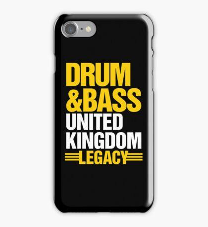 Drum & Bass United Kingdom Legacy  iPhone Case/Skin