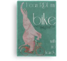 I Can Ride My Bike With No Hands Canvas Print