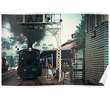 Excursion train at Wodonga Railway station 19810300 0037 Poster