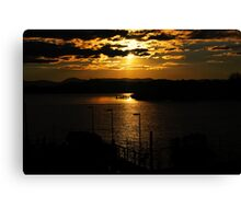 Sunset Lake Burley Griffin Canberra Canvas Print