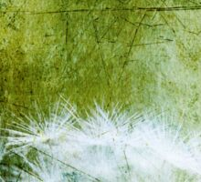 Dandelion in Green, Distressed Metal Look Sticker