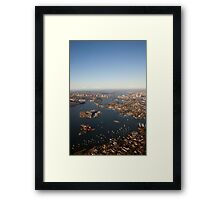 Aerial view of Sydney Harbour, Australia Framed Print