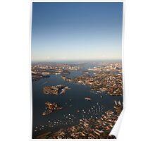 Aerial view of Sydney Harbour, Australia Poster