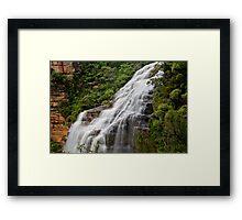 Wentworth Falls waterfall, New South Wales, Australia Framed Print