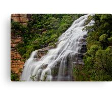 Wentworth Falls waterfall, New South Wales, Australia Canvas Print
