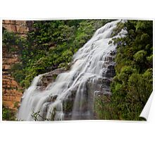 Wentworth Falls waterfall, New South Wales, Australia Poster