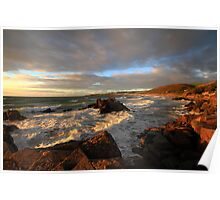 Evening Light over Woolacoome Bay Poster
