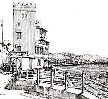Genova Pegli - Castelluccio sul mare by Luca Massone  disegni