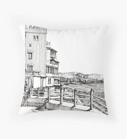 Genova Pegli - Castelluccio sul mare Throw Pillow