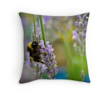 Harvesting Lavender Throw Pillow