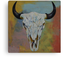 Bison Skull Canvas Print