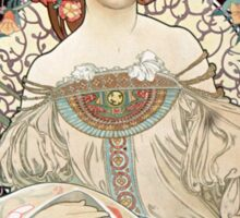 Vintage Alphonse Art Nouveau Poster Sticker