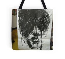 dreamed an end of existence a faith beaten to shit ... it happens all the time               Tote Bag