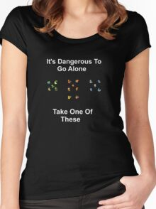 It's Dangerous To Go Alone! Women's Fitted Scoop T-Shirt