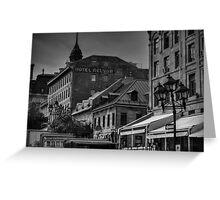 Vieux Montreal 001 BW Greeting Card