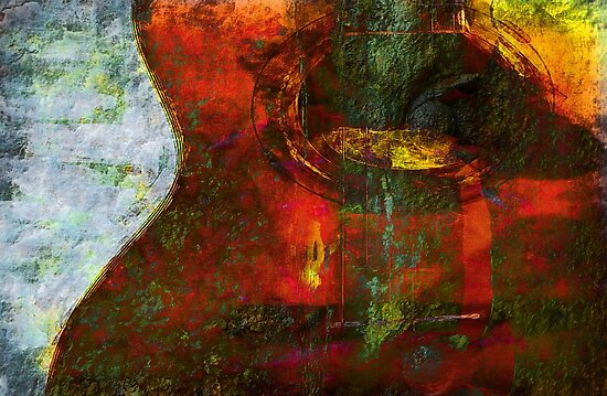 Guitar Abstract  by Elaine  Manley