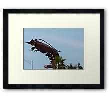 Huge Shrimp Framed Print