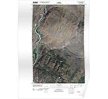 USGS Topo Map Washington State WA Keystone 20110503 TM Poster