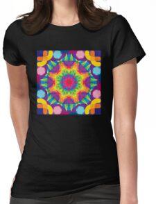 Rainbow Juniperus Womens Fitted T-Shirt