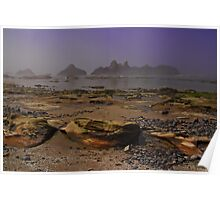 Misty Morning On The Seal Rocks Poster