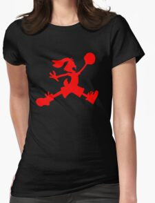 Hare Jordan [Red Logo] Womens Fitted T-Shirt