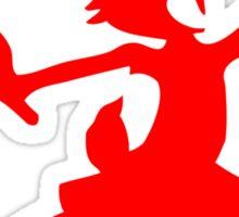 Hare Jordan [Red Logo] Sticker