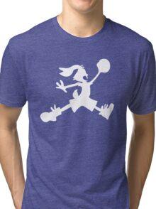 Hare Jordan [White Logo] Tri-blend T-Shirt